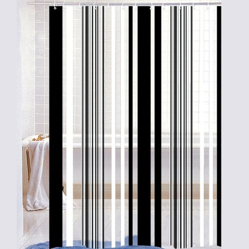 Cortina-de-Baño-PVC-Stripe-blanco-negro