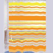 Cortina-de-Baño-PVC-Stripe-naranja-