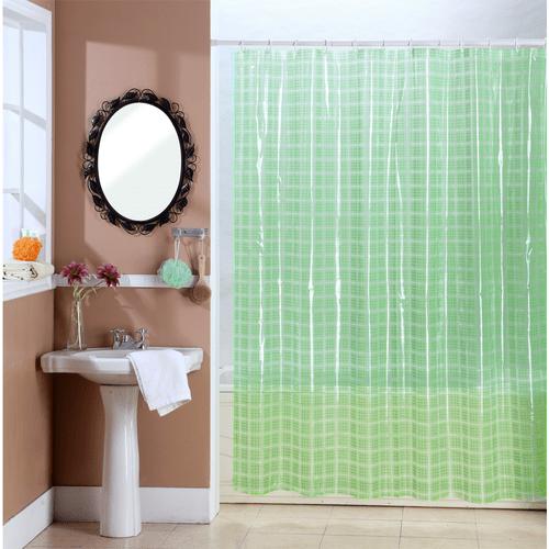 Cortina-de-Baño-PVC-Cristal-Square-Verde
