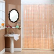 Cortina-de-Baño-PVC-Cristal-Square-Naranja