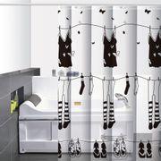 Cortina-de-Baño-PVC-Clothes-Negro