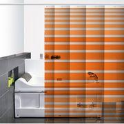 Cortina-de-Baño-PVC-Zinia-Naranja