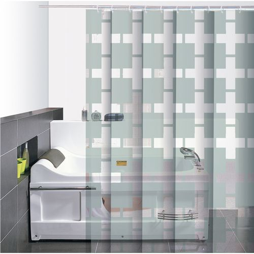 Cortina-de-Baño-PVC-Cleo-Transparente-Blanco