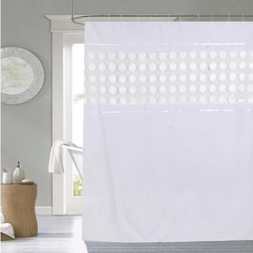 Cortina-de-baño-Chenille-Luxury-Doris-blanca