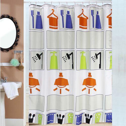 Cortina-de-Bano-Teflon-Estampada-Shower-Icons