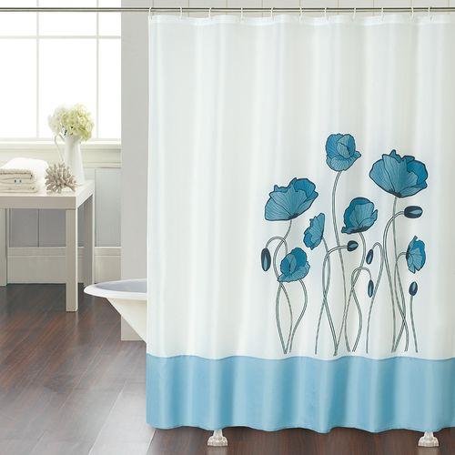 Cortina-de-Baño-Linea-Vintage-Flower-Blue