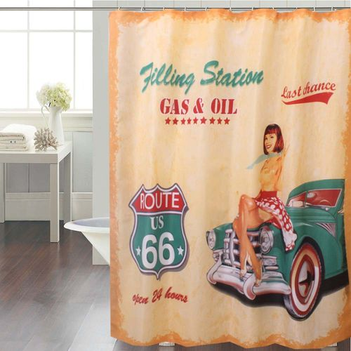 Cortina-de-Baño-Panel-Estampada-Filling-Station