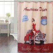 Cortina-de-Baño-Panel-Estampada-American-Diner