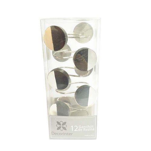 Ganchos-de-Bano-Resina-Lunar-Silver-Negro