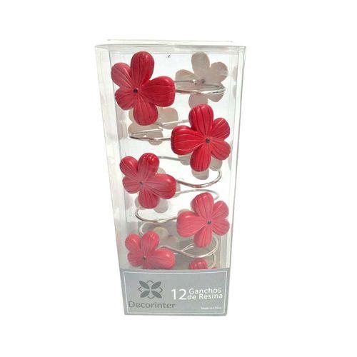 Ganchos-de-Bano-Resina-Gardenia-Rojo-Negro