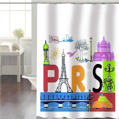 Cortina-de-Baño-Panel-Estampada-Paris-Multicolor