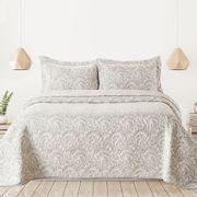 Cubrecama-Quilt-Premium-Cotton-Bamboo-Jackard-Doble-Faz-Rihanna-Beige-blanco-240-x-260