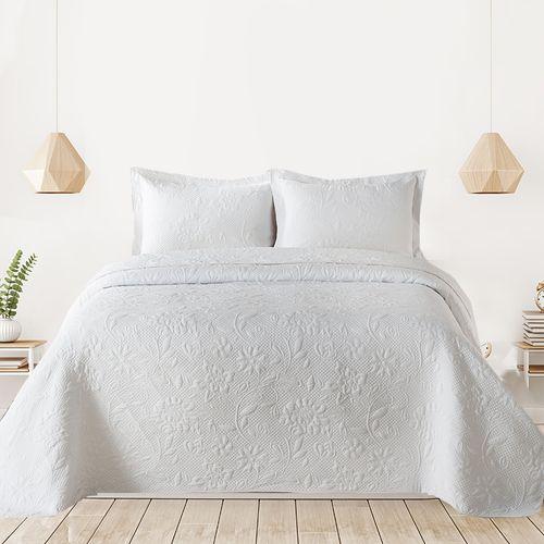 Cubrecama-Quilt-Premium-Cotton-Bamboo-Prewashed-Liso-Yashira-blanco-240-x-260