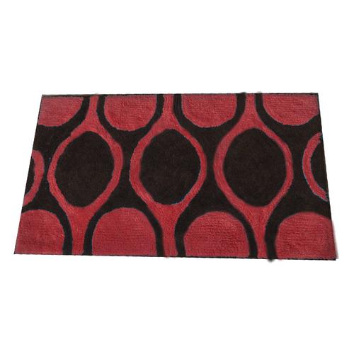 Alfombra-de-Microfibra-Naomi-Rojo-Negro