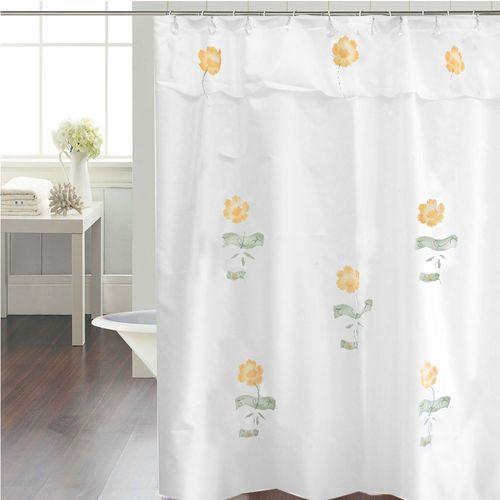 Cortina-de-Baño-Tradicional-Petunias-fantasia-blanco-amarillo