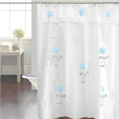 Cortina-de-Baño-Tradicional-Petunias-fantasia-blanco-azul