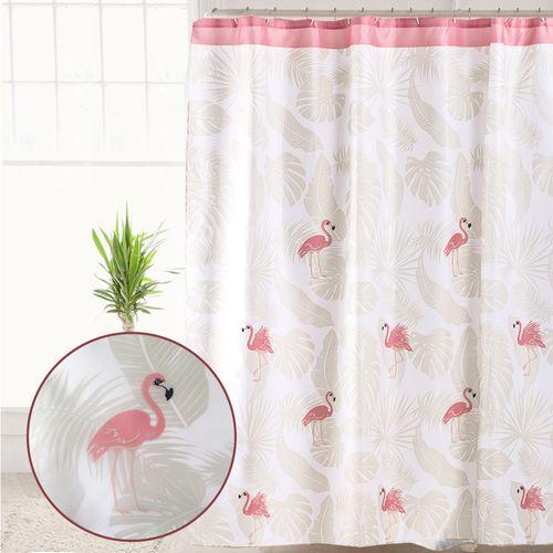 Cortina-de-Baño-Teflon-Estampada-Flamingo