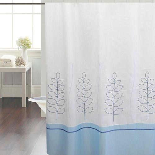 cortina-de-baño-chenille-gramilla-blanca-celeste