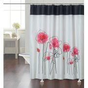 cortina-de-baño-chenille-vintage-red-flower
