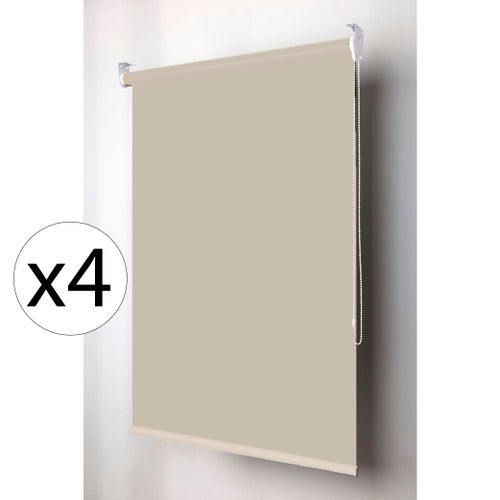 CortinaRollerBlackoutColorCollectionBeige28mm120x220mtsx6unidades
