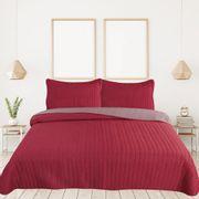 Cubrecama-Labrado-Bicolor-2-1-2-220x240--Fedora-Gris--Rojo
