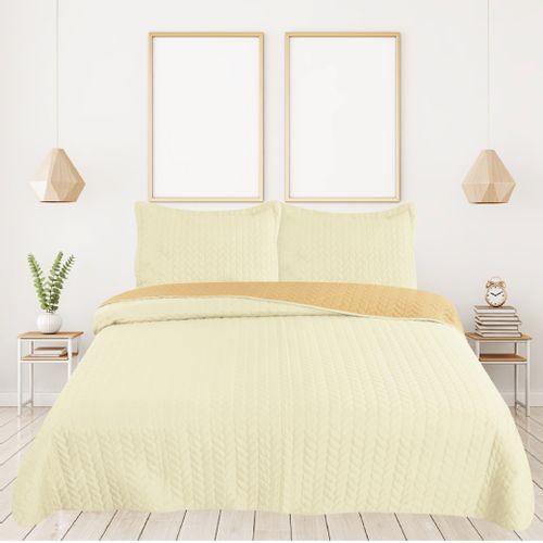 Cubrecama-Labrado-Bicolor-1-1-2-160x240--Fedora-Natural-Maiz