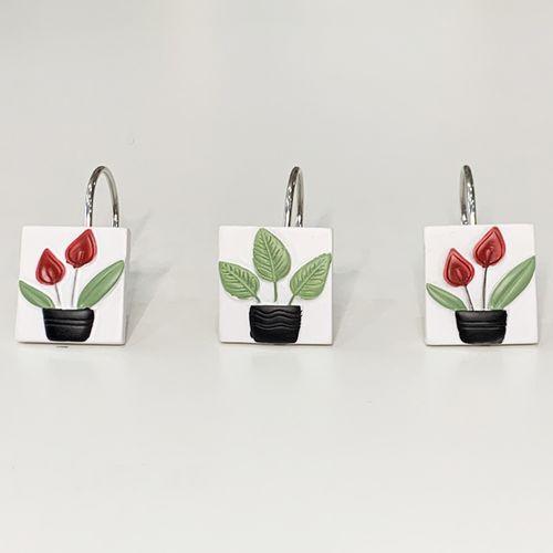 Gancho-de-bano-Plants-Negro-Verde