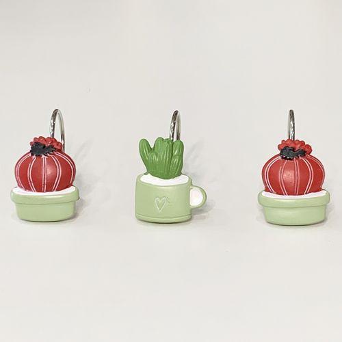 Gancho-de-bano-Cactus-Love-Gris-Rojo